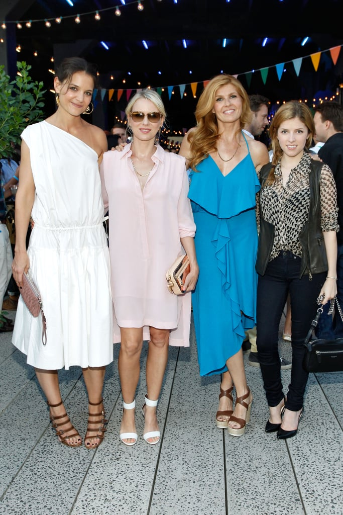 Katie Holmes, Naomi Watts, Connie Britton and Anna Kendrick attended Coach's Summer Party on the New York Highline on June 11.