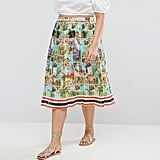 Asos Curve Pleated Midi Skirt