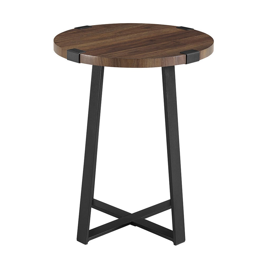 Walker Edison Furniture Company Dark Walnut Rustic Urban Industrial Wood and