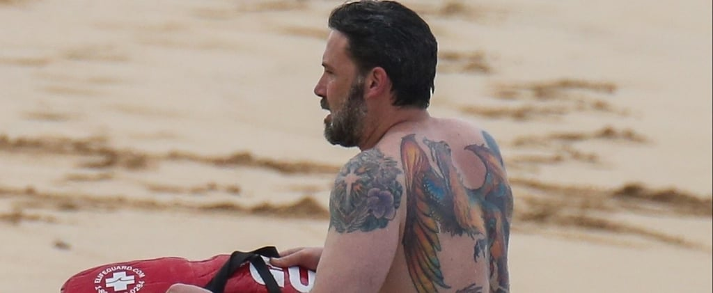 Shirtless Ben Affleck Puts His MASSIVE Phoenix Tattoo on Display — Is He a Harry Potter Fan?