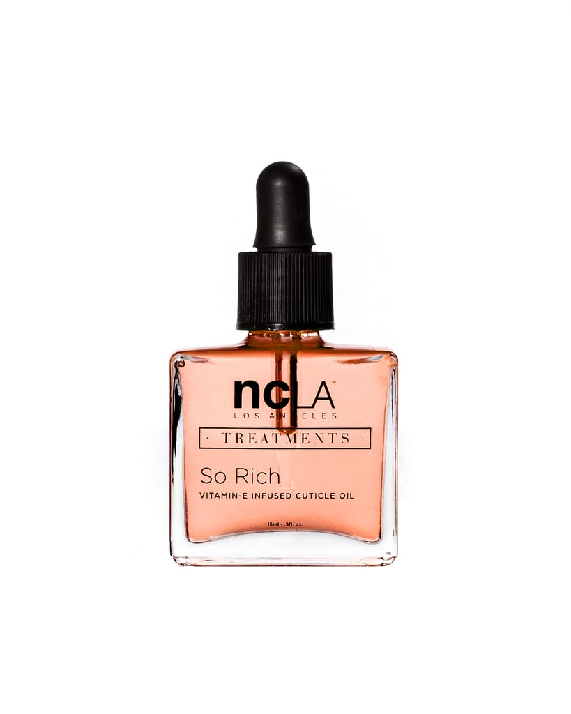 Even your nails can get some squash love. This pumpkin-spice-scented cuticle oil will ensure you nail beds don't dry out as Fall's crisp air arrives.  NCLA So Rich Cuticle Oil in Pumpkin Spice ($18)