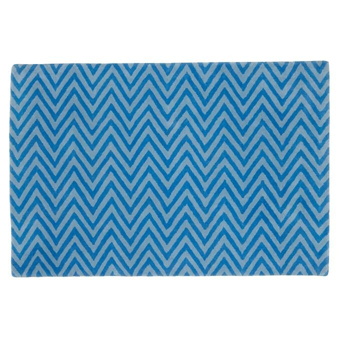 The Land of Nod Blue Zigzag Rug