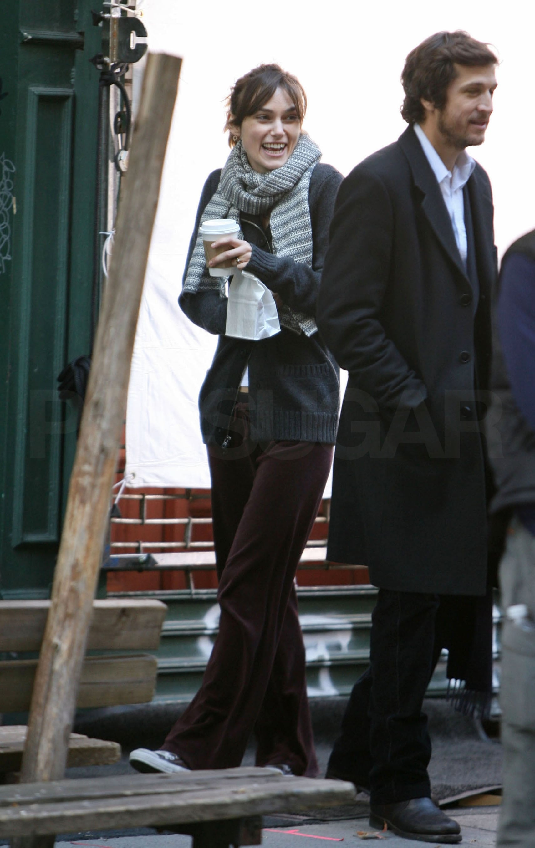 photos of keira knightley and guillaume canet on the set