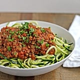 Bolognese gone vegan: we're loving this inspiration to make zoodles topped with a flavorful vegan bolognese sauce.