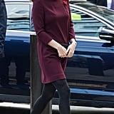 Kate Middleton Red Goat Dress