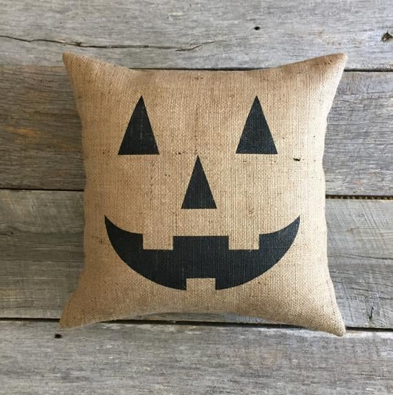 Jack-o'-Lantern Pillow Cover