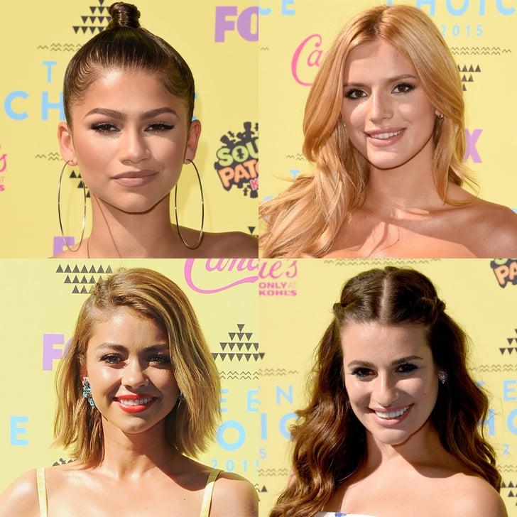 Celebrity Hair and Makeup at Teen Choice Awards 2015