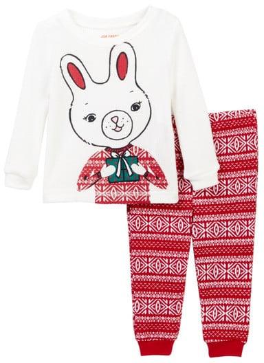 Joe Fresh Holiday Bunny Waffle Knit Pajama Set