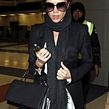 Victoria Beckham Hits NYC With a Picture of Shirtless David!
