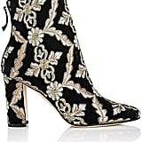 Manolo Blahnik Brocade Ankle Boots