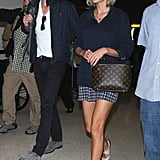 Taylor and Tom Both Showed Up at LAX Dressed in Blue