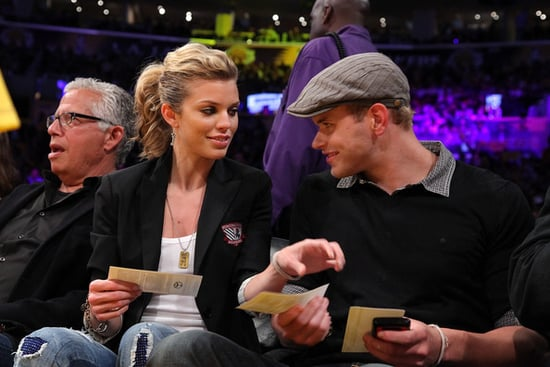 Kellan Lutz and Annalynne McCord At The Lakers Game
