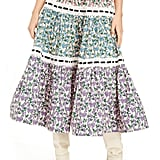 Marc Jacobs Mixed Floral Tiered Prairie Skirt