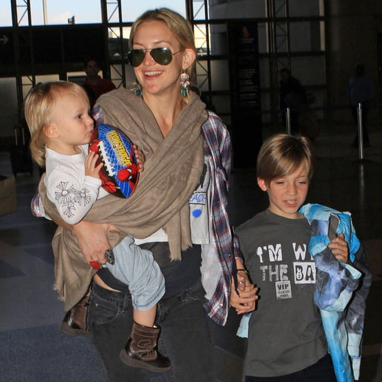Kate Hudson With Her Sons at LAX