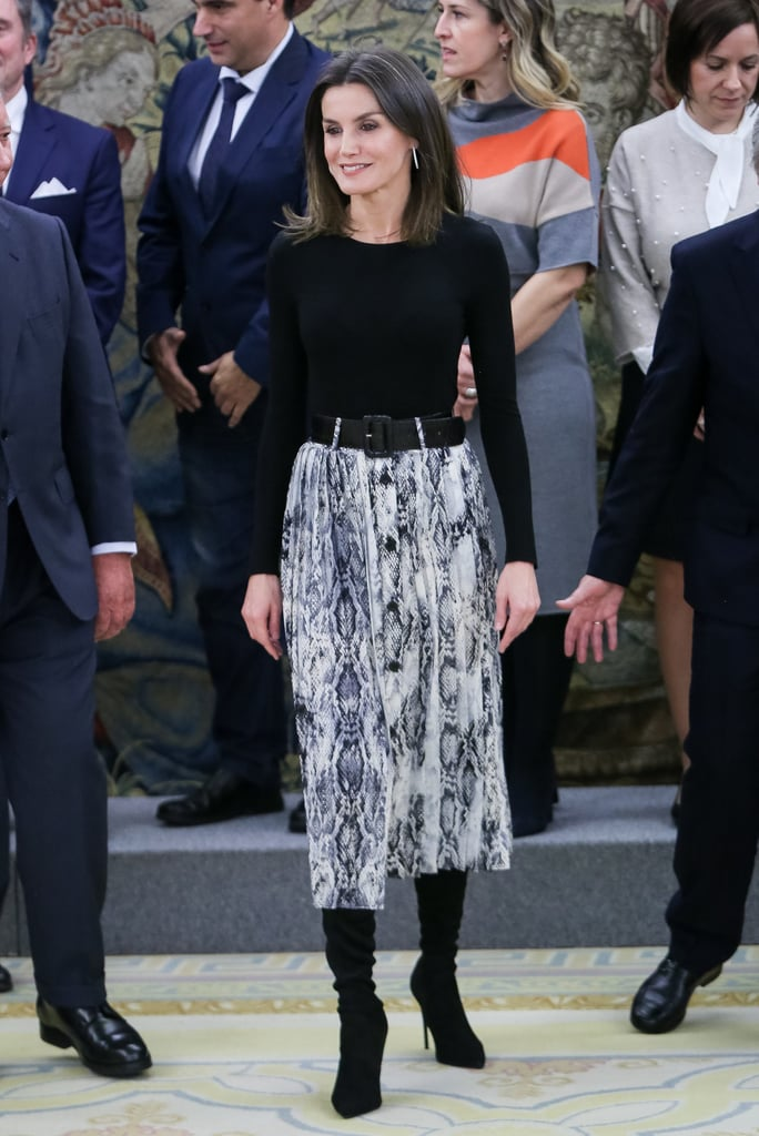 Queen Letizia's Zara Skirt Only Costs $20, but It Makes Her Look Like a Million Bucks
