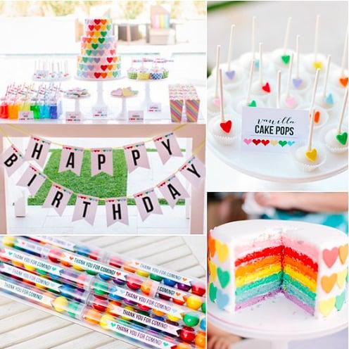 A Rainbow-Heart Party