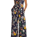 Chelsea28 Floral Print Bow-Front Wide-Leg Jumpsuit