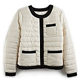 Colorblock Puffer Jacket in Pristine