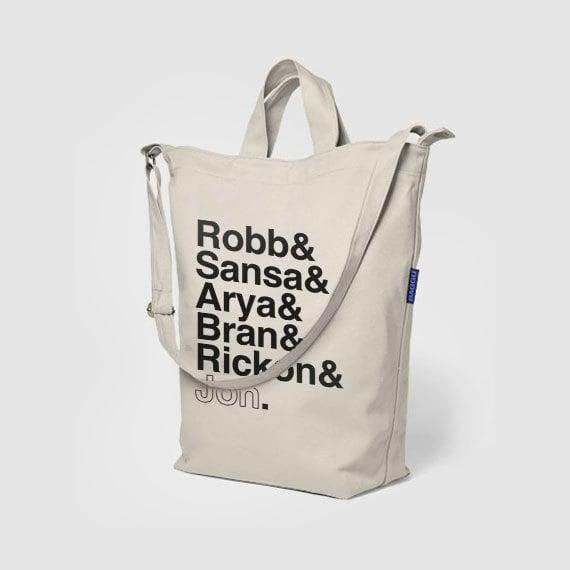 Canvas Stark Siblings Tote Bag ($40)