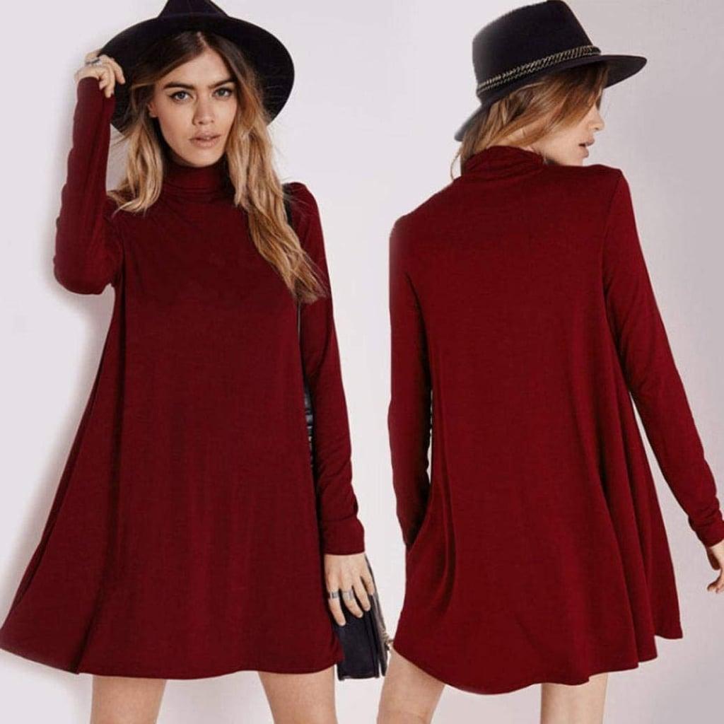 Sunward Turtleneck Dress