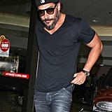Joe Manganiello arrived at LAX Airport.