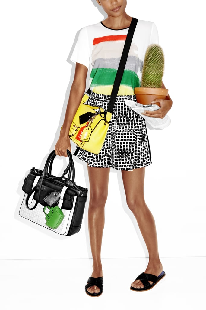 Soft Shorts ($33), Boxer Belted Large Satchel ($89), and RK40 Belted Convertible Mini Satchel ($59)