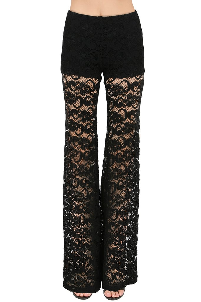 Nightcap Dixie Lace Bells Pant in Black ($230)
