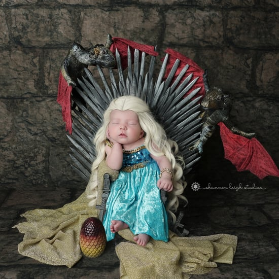 Game of Thrones Newborn Photo Shoot