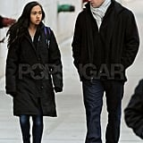 Matt Damon with Alexia Barroso in NYC.