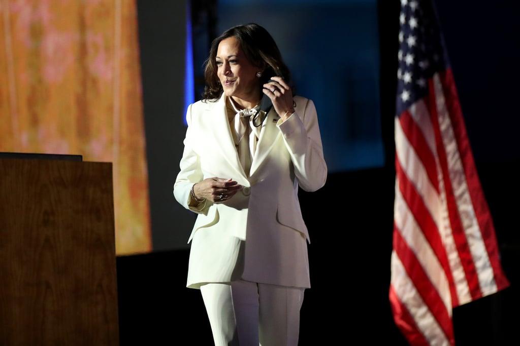 Vice President-Elect Kamala Harris Wearing Her White Pantsuit to Address the Nation
