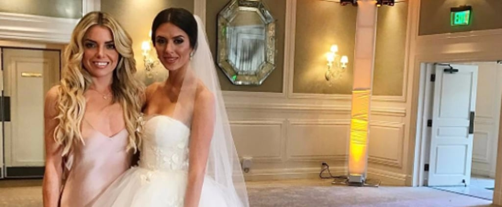 Victoria Consolo Wearing Monique Lhuillier Wedding Dress
