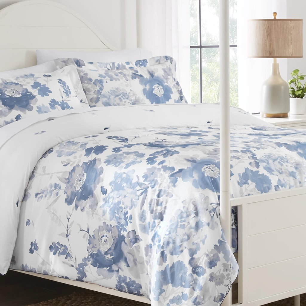 Home Decorators Collection Loriana 3-Piece Blue Floral Full/Queen Comforter Set