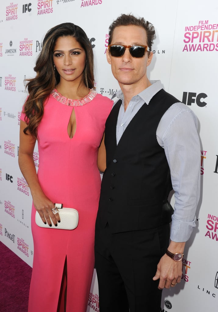 Matthew McConaughey and Camila Alves arrived at the Spirit Awards together.