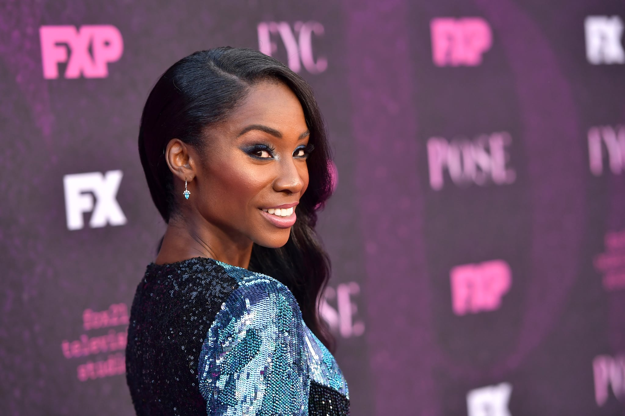 WEST HOLLYWOOD, CALIFORNIA - AUGUST 09: Angelica Ross attends the red carpet event for FX's