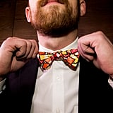 Even the groom's bow tie is a nod to their many sauces.