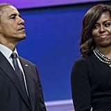 Michelle Obama Black Wrap Dress May 2016