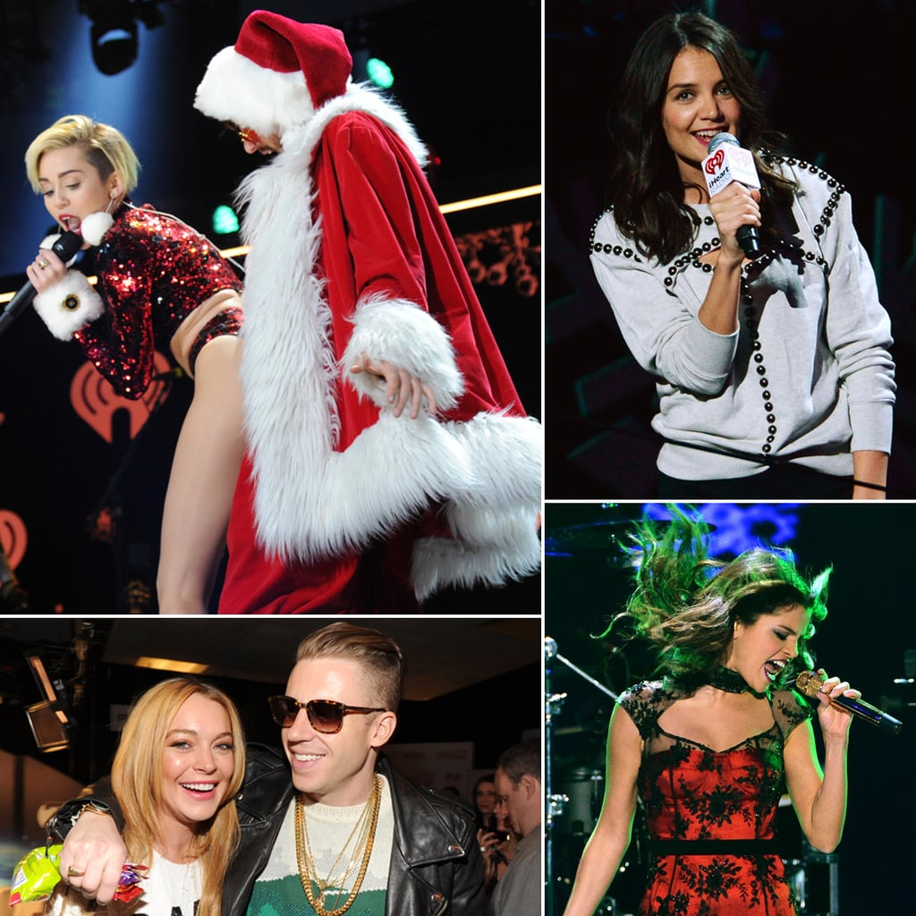 Miley Cyrus, Selena Gomez, Lindsay Lohan At Z100 Jingle Ball