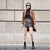 A Lightweight Leather Trench With Retro Shorts