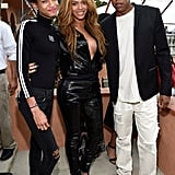 Beyoncé wrapped her arms around Willow and Jay Z.