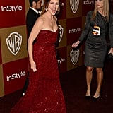 Jennifer Garner showed up to the InStyle bash with a smile.