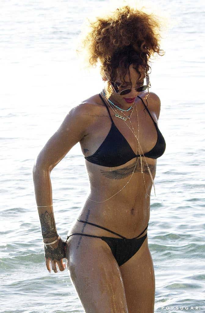 Rihanna on Vacation in Barbados August 2015