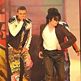 "Michael Jackson surprised the crowd by coming on stage at the end of the 'N Sync performance of their single ""Pop"" in 2001."