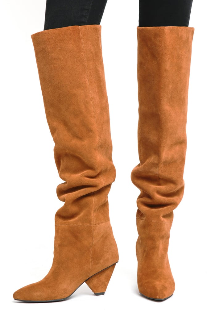 27c35911f76 Jeffrey Campbell Senita Slouch Suede Boot | Victoria Beckham Wearing ...