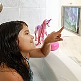 Since the touchscreen works, kids can even play games in the tub!