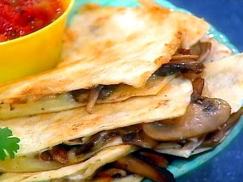 Mushroom Quesadillas