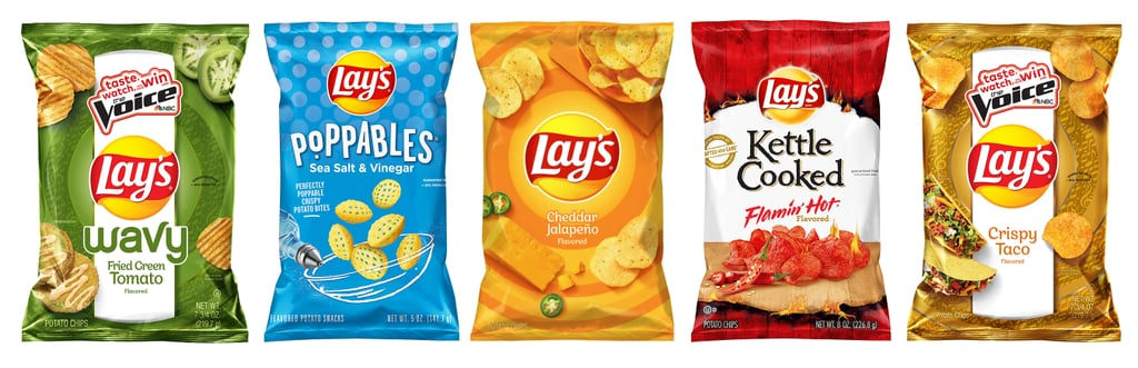 Lay's Crispy Taco, Hot Sauce, and Fried Green Tomato Chips