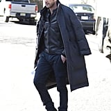 Dylan McDermott worked on scenes for the new TV movie Hostages in NYC on Thursday.