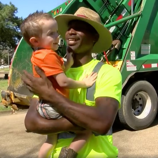 Little Boy Bonds With Garbage Men