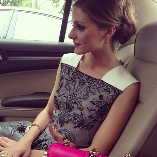 Olivia Palermo snapped a photo in the car while en route to the Valentino dinner during Haute Couture Week in Paris. Source: Twitter user TheRealOliviaP