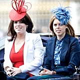 Hats off to Beatrice and Eugenie knowing how to rock a seriously bold hat.